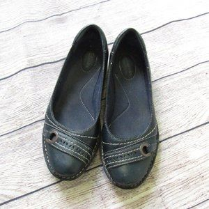Clark's Blue Leather Slip On Shoes
